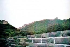 Chinesische Mauer im Spätsommer