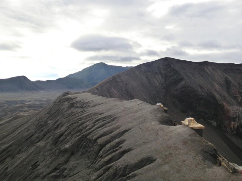 Ausblick vom Krater des Bromo