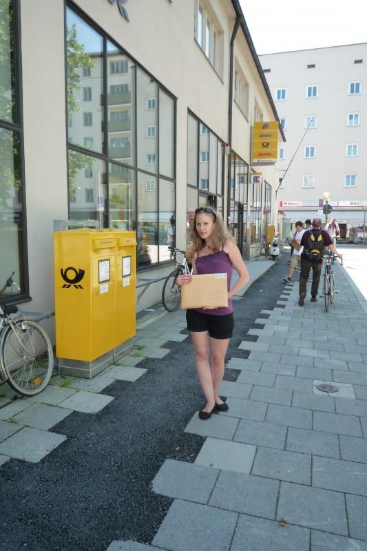 Caroline Schleibinger mit ihrem Beitrag zum Goldenen Pick 2011